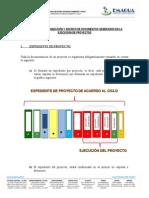 Guia archivistica para la documentacion de la ejecucion de Proyectos - EMAGUA
