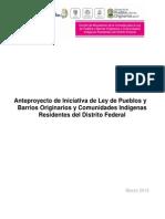 Anteproyecto Ley de Pueblos 2015