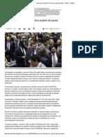 Câmara Derrota Dilma e Retira Projeto de Pauta - Política - Política