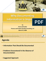 Why Documenting Information is Important