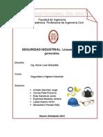 Seguridad Industrial - Lineamientos Generales