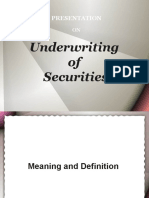 Underwriting of Securities
