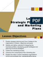 Strategic Planning and Marketing Plans