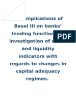 Basel III Implications