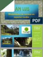 Ilustrando Las Modalidades de Turismo en Espacios Rurales - SAN LUIS