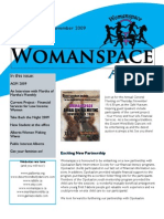 Womanspace Newsletter November 2009