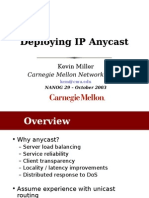 Deploying IP Anycast