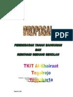 Proposal Pembebasan Tanah & dan Bangunan gedung TKIT Al-Khairaat