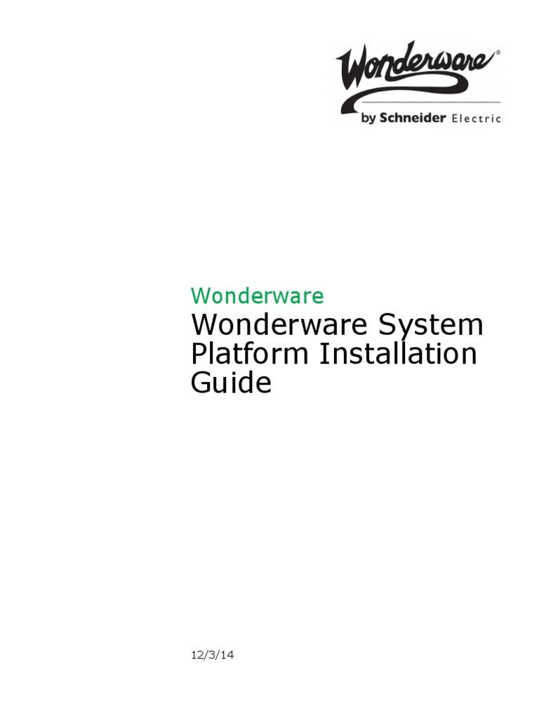 Wonderware System Platform Installation Guide