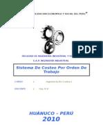 Sistema de Costeo Por Ordenes de Trabjo