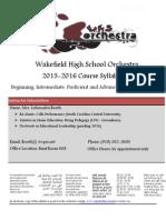 whs orchestra handbook 2016