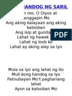 Offertory Song- Paghahandog Ng Sarili