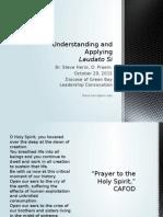Understanding and Applying Laudato Si