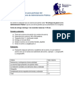 Columna de Opinión Para Participar Del VIII Congreso Chileno de Administración Pública