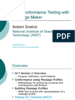 HL7 Conformance Testing with Message Maker