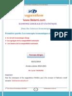Partie I Circuit Économiques Agrégats Limites de La Comptabilité Nationale