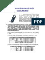 Manual de Operación Del Múltimetro Con Amperímetro de Gancho Con Resistencia de Aislamiento