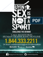 BUYING SEX IS NOT A SPORT