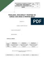 Com-pet-sso-001 Traslado, Descarga y Montaje de Carga Con Grua o Montacarga