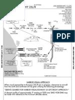 lax harbor visual rwy 25l r