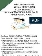Askep Cairan Dan Elektrolit (INFUS & TRANSFUSI)
