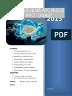 """In""""DE  LOS NUCLEOS ATOMICOS A LAS PROTEINAS""""forme Final de Molecular"""