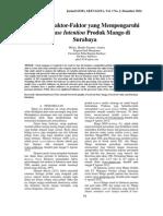 Analisis Faktor-Faktor Yang Mempengaruhi Purchase Intention Produk Mango Di Surabaya