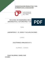 Laboratorio N1 El Diodo y Sus Aplicaciones
