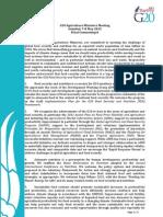 G20 Agriculture Ministers Final Communique