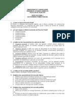 Cuestionario ideal para examen I de Derecho Penal