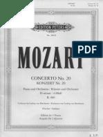 Mozart Piano Concerto 20