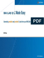 Matlab to c Made Easy Presentation