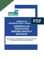 Manual de Organización y Funciones de La Gerencia de Proyectos Inmobiliarios y Sociales