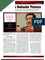 John Yoo Defends Torture