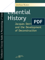 Essential History Jacques Derrida and the Development of Deconstruction.