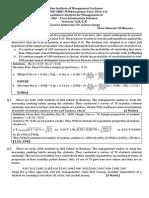 Solution Mid Term Exam 2014