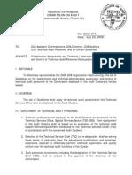 Coa Memo 2009-074 Role of Tso Staff