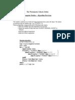 Algorithm Revision