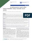 Elbow Spasticity During Passive Stretch-reflex