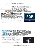 8 Forms of Energy