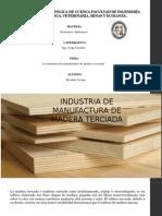Industria de Manofactura de Madera Terciada
