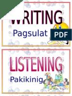 Speaking Reading Listening Long