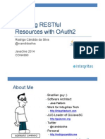 CON4990_Candido Da Silva-JavaOne 2014 - Securing RESTful Resources With OAuth2