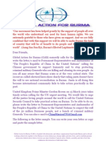 Global Action for Burma GAB Action on China