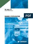 Manuel Utilisation Variateur OMRON J7