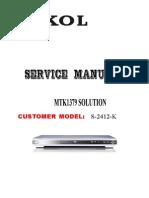 Service Manual S-2412-K (S-2312-K) of SOKOL