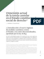 Dimesión Actual de La Tutela Cautelar en El Estado Constitucional Social de Derecho