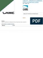 Came Zp7 - Armoire de Commande Porte Automatique Corsa_6561