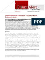 LW CFTC First Bitcoin Enforcement Action