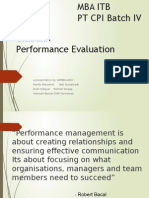 Citibank Performance Evaluation 2